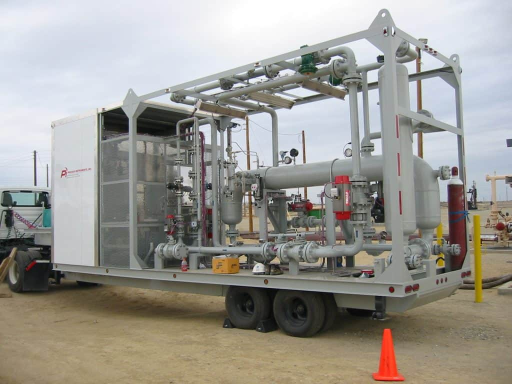 2-phase LT multiphase test separator mobile trailer