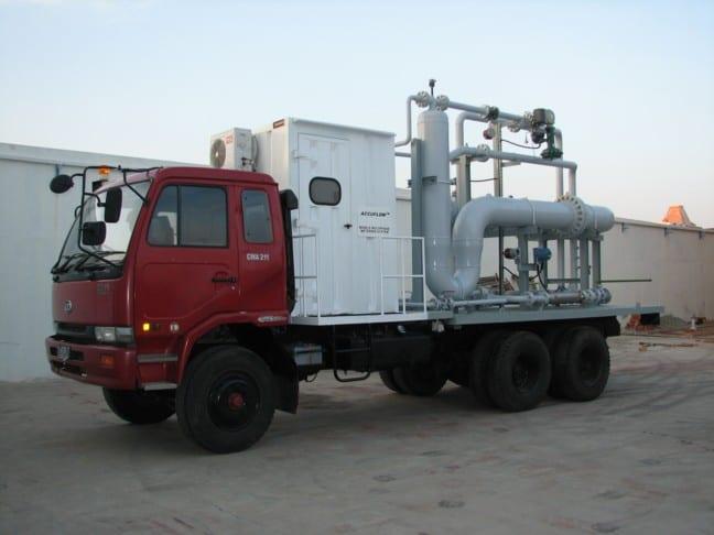 2-phase SR multiphase test separator mobile trailer Indonesia
