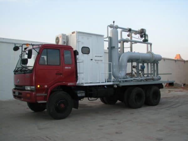 2-phase SR multiphase test separator mobile trailer Indonesia
