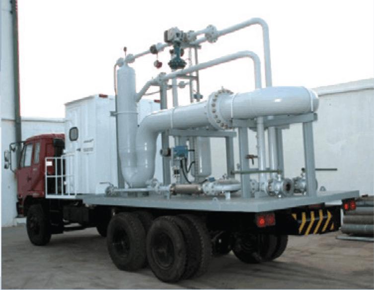 3-phase SR multiphase test separator mobile trailer Indonesia