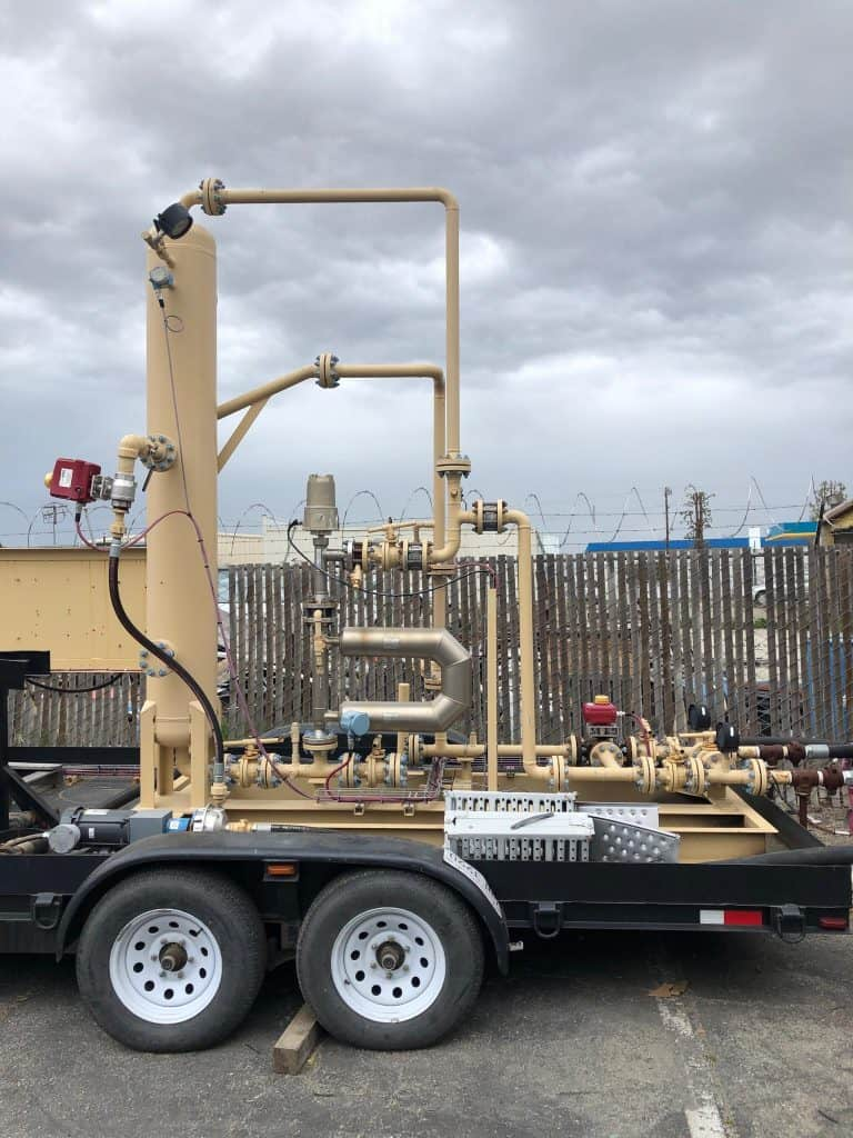 2-phase JR multiphase test separator mobile trailer