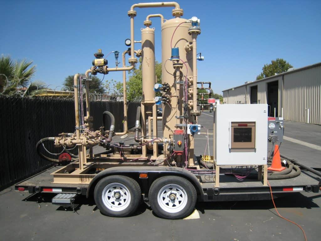 3-phase JR multiphase test separator mobile trailer