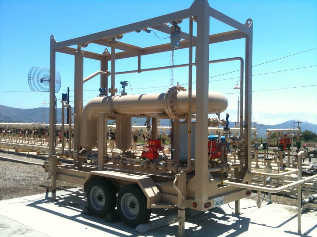 3-phase SR multiphase test separator mobile trailer