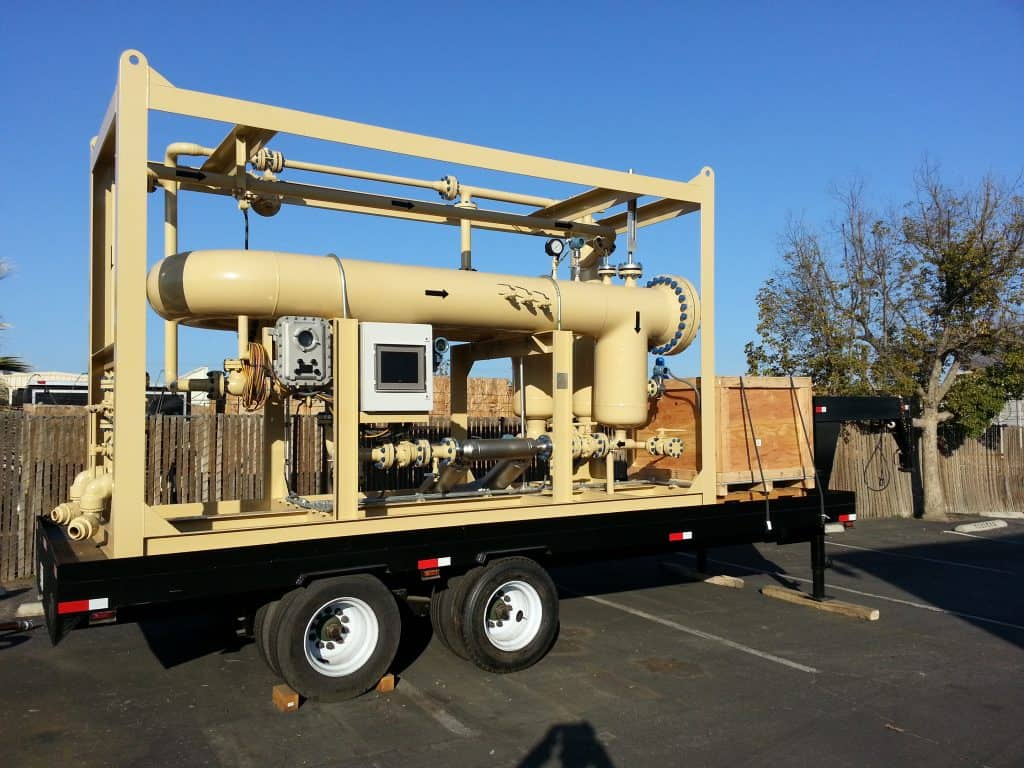2-phase SR multiphase test separator mobile trailer